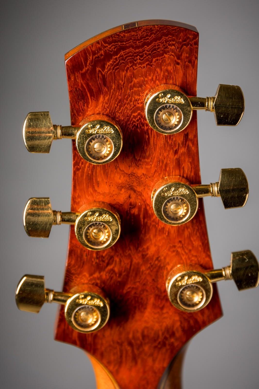 schaller da vinci machine heads padauk backstrap handmade guitar insight