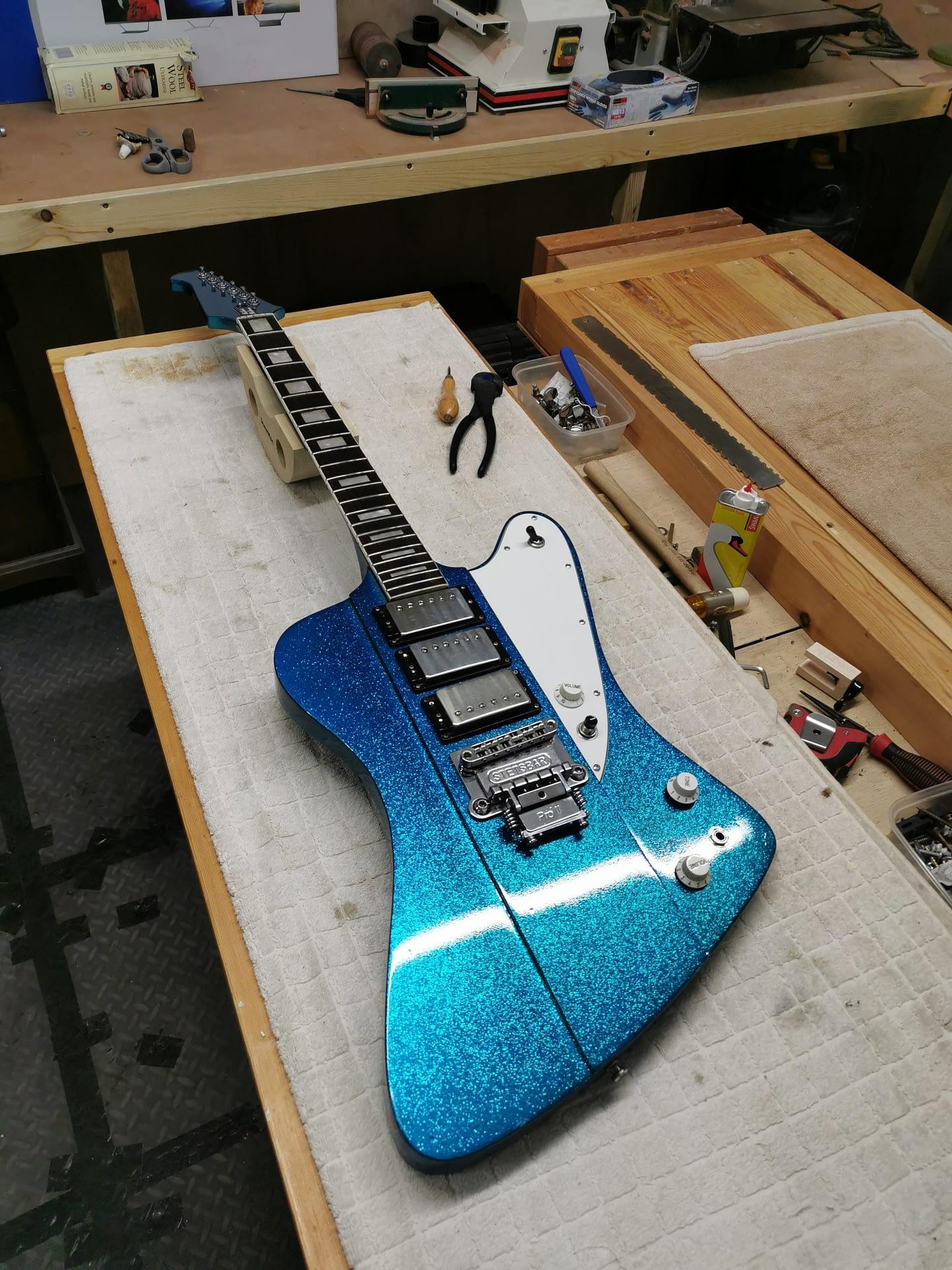Handmade Guitar Refret guitar repair stroud
