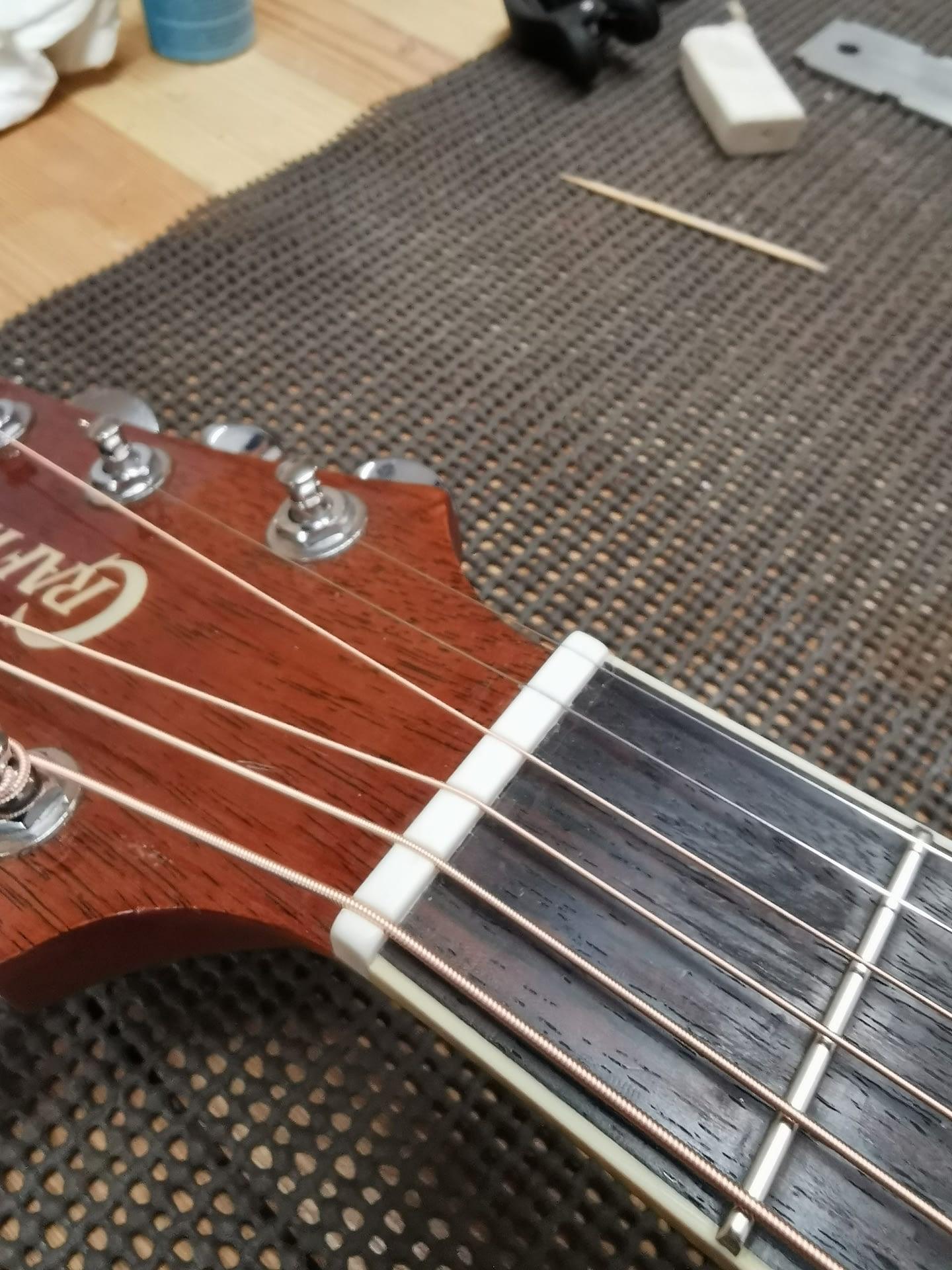 Crafter Guitar New Nut guitar repair stroud