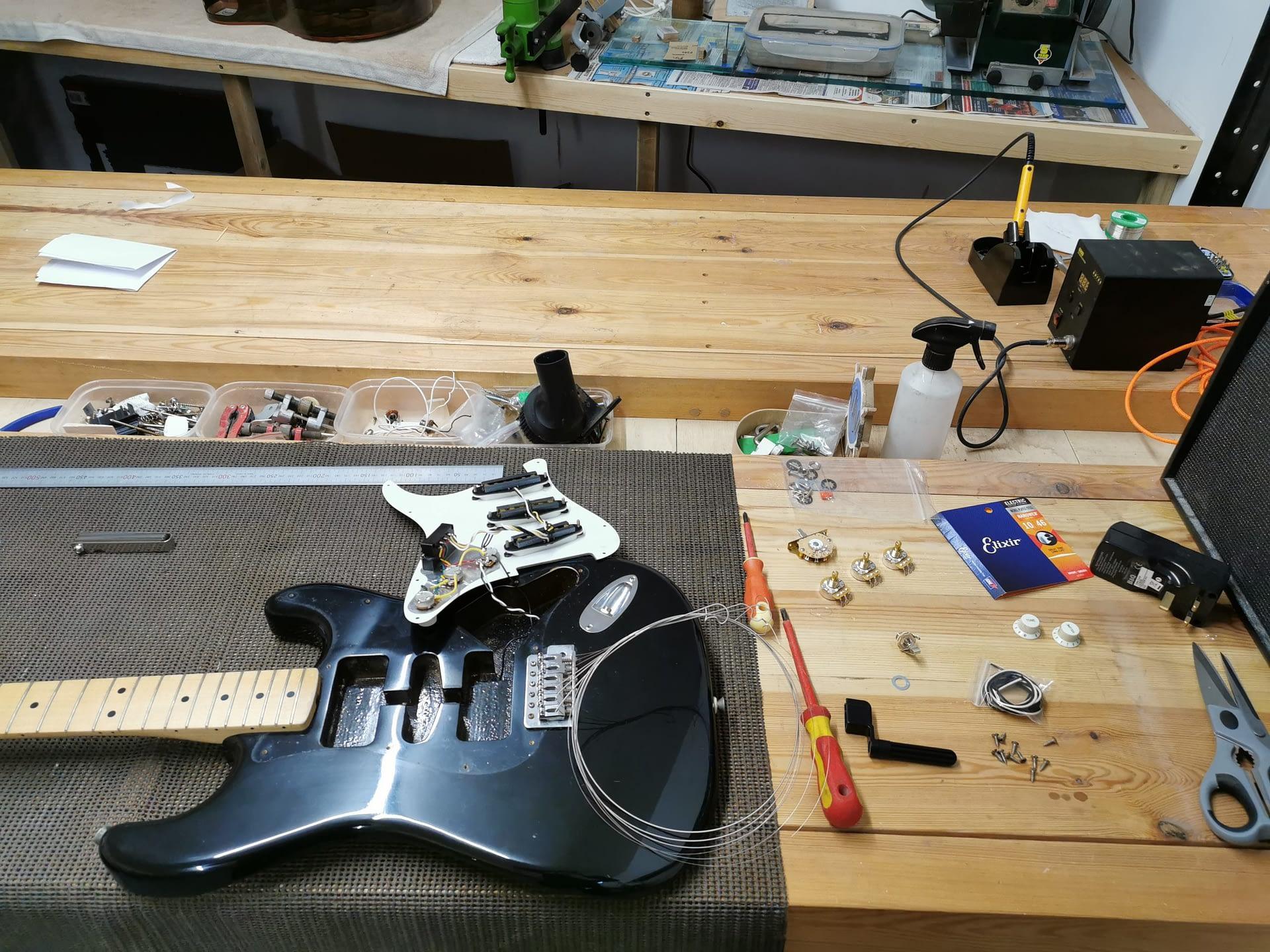 Stratocaster Pot Replacement guitar repair stroud