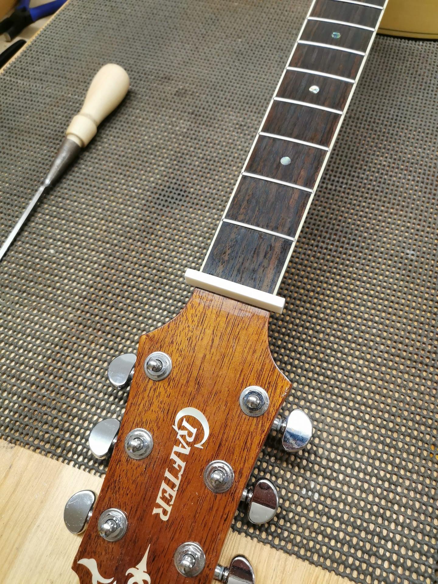 Crafter Guitar New Nut repair stroud