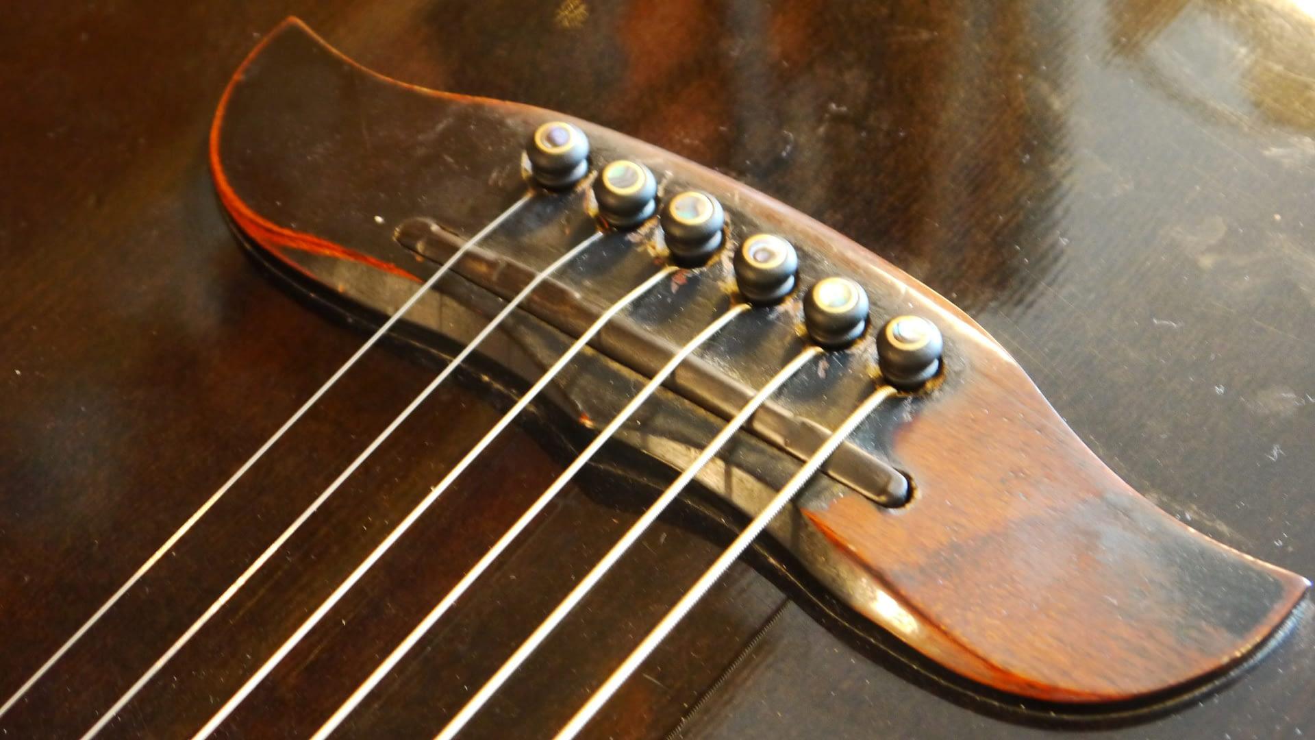 New Intonated Ebony Saddle Guitars Repair Stroud