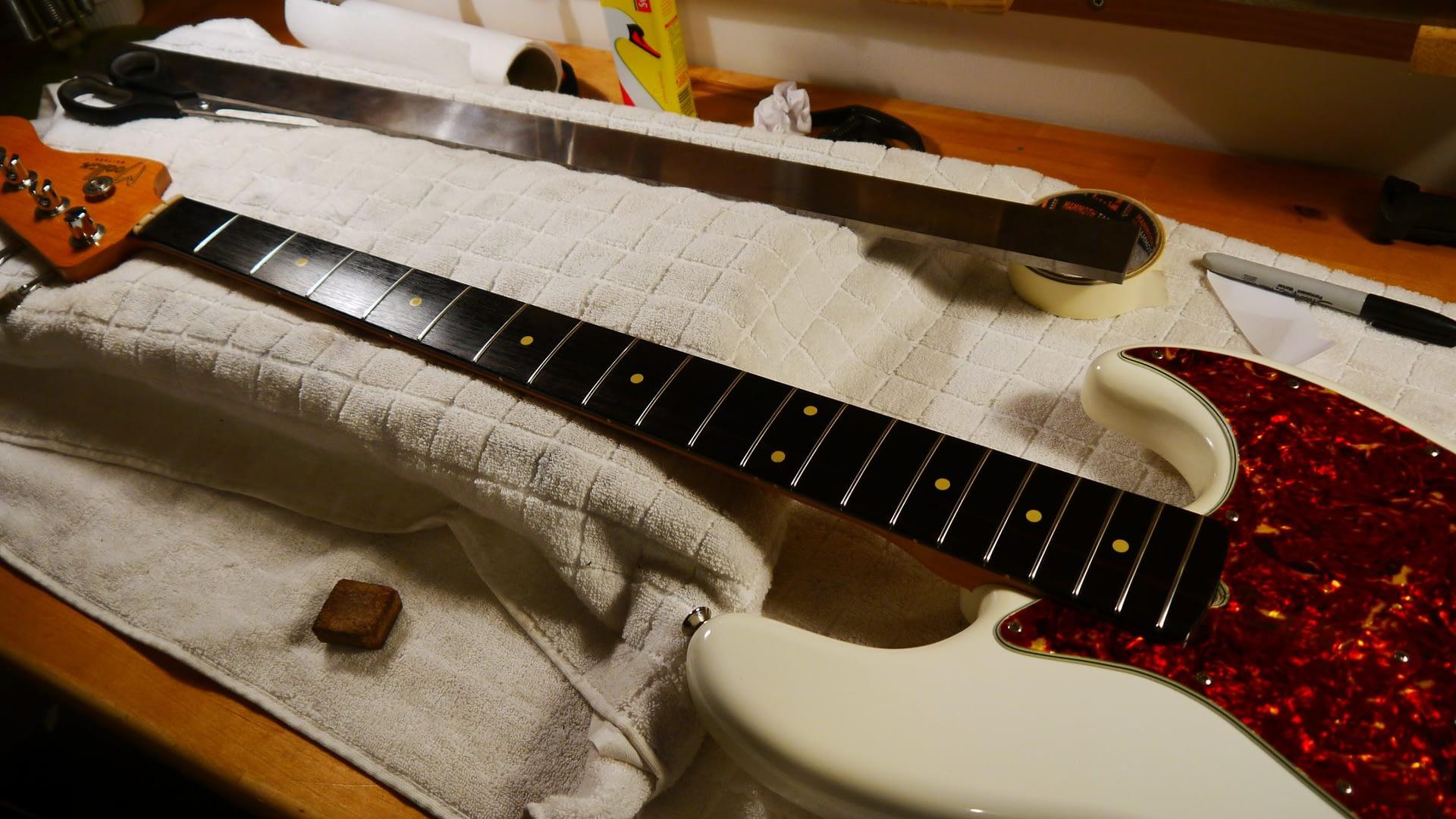 Moollon Bass Setup guitar repair stroud