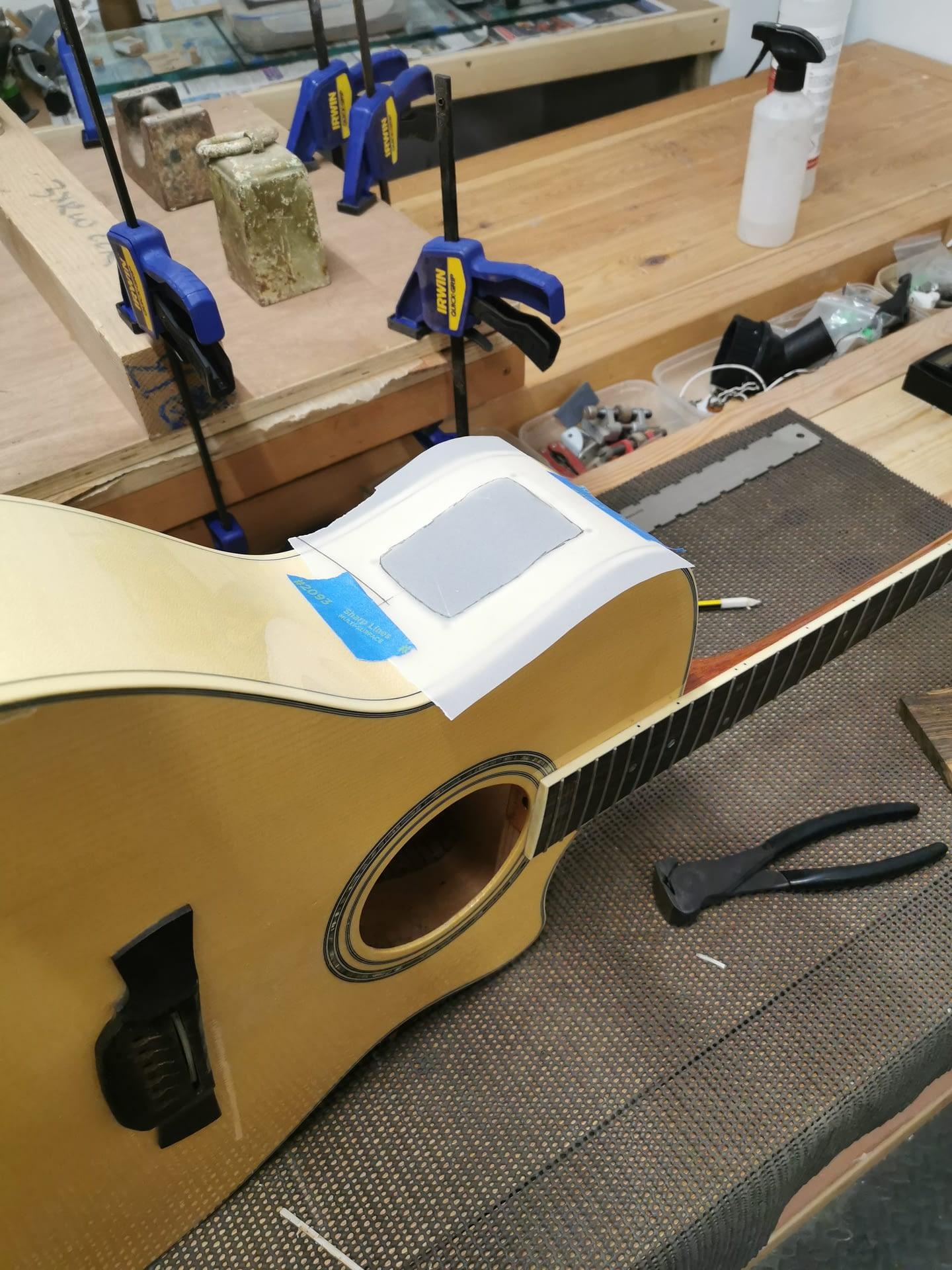 Crafter Side Port Mod guitar repair stroud
