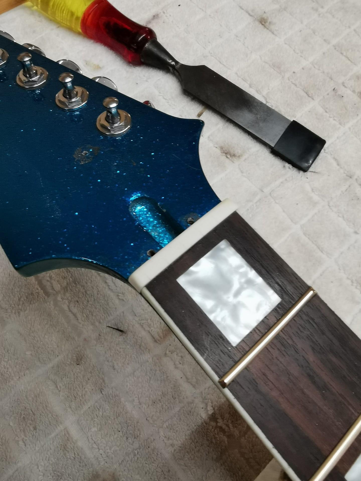 Handmade Guitar New Nut guitar repair stroud