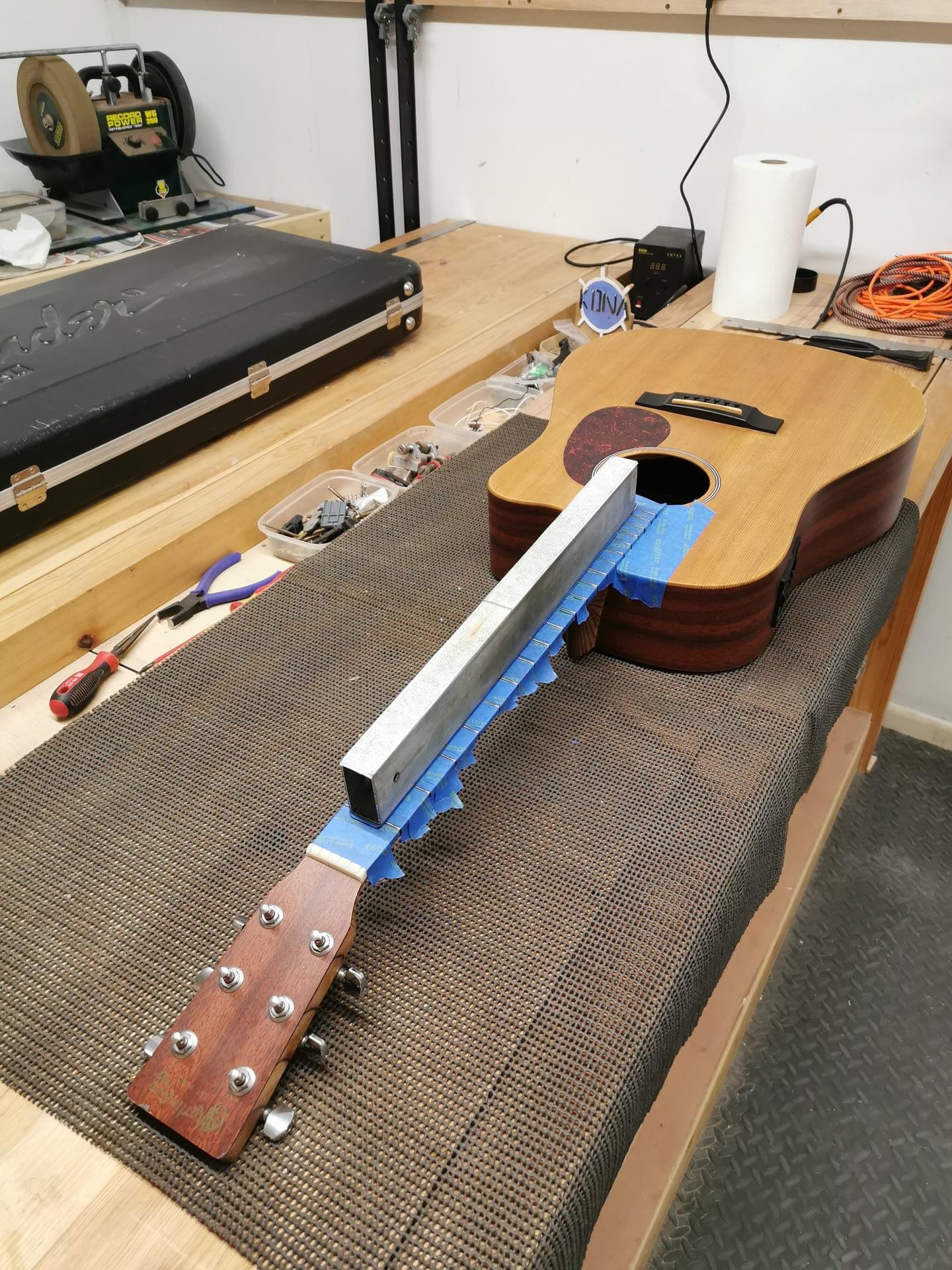 Martin Guitar Fret Leveling repair stroud