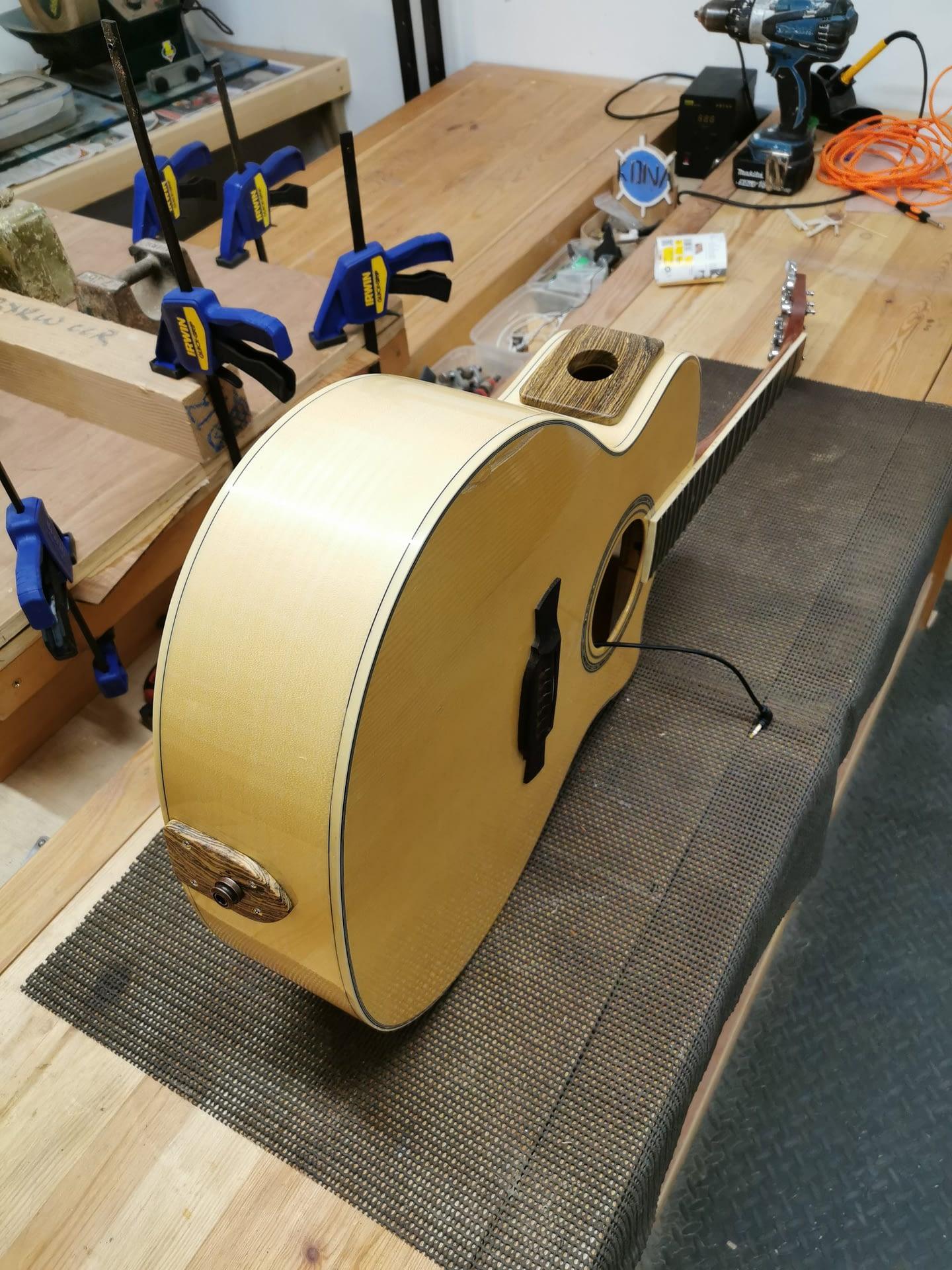 End Pin Plug and Sound Port Mod guitar repair stroud