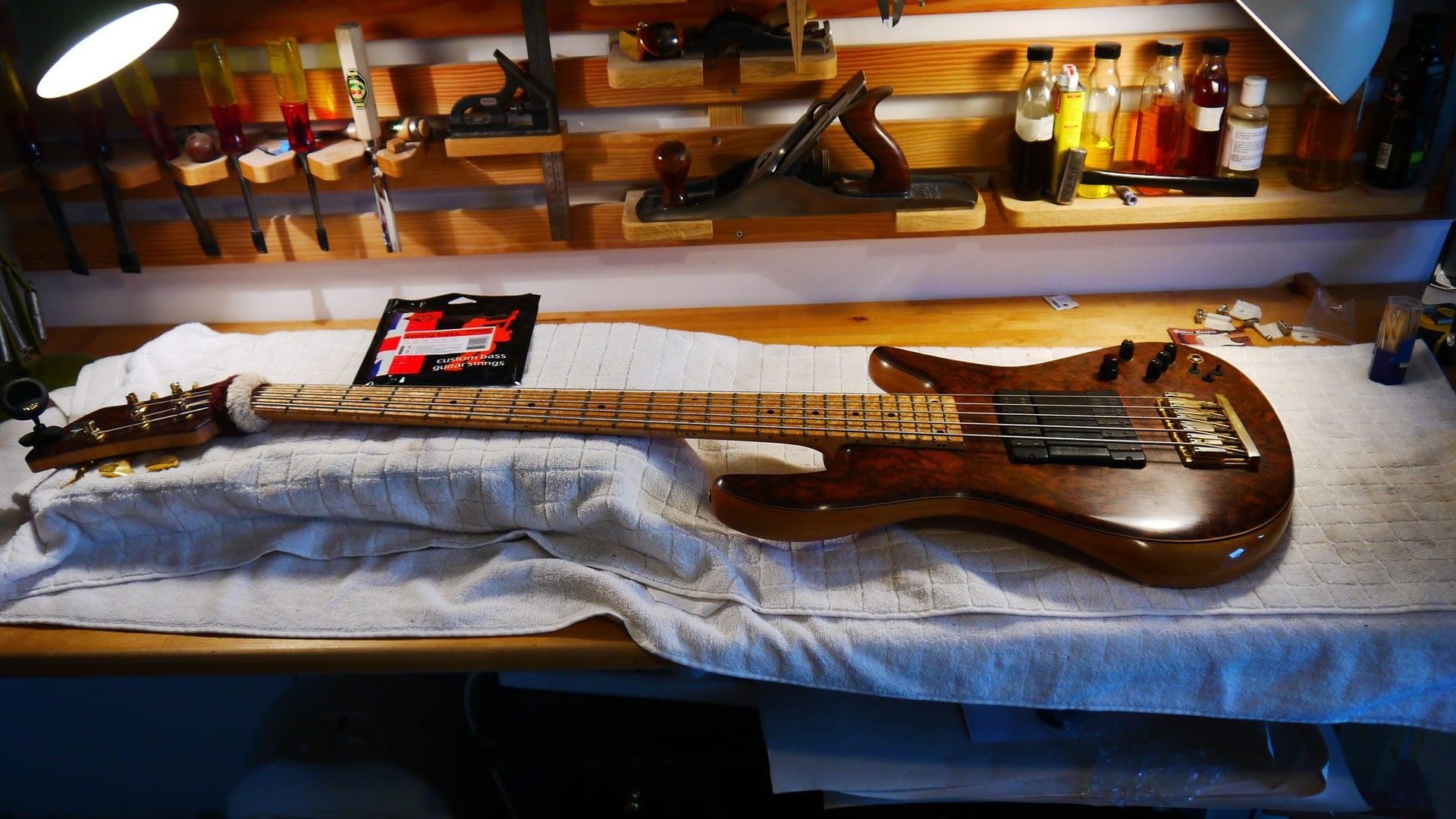 Fedora Bass Setup guitar repair stroud