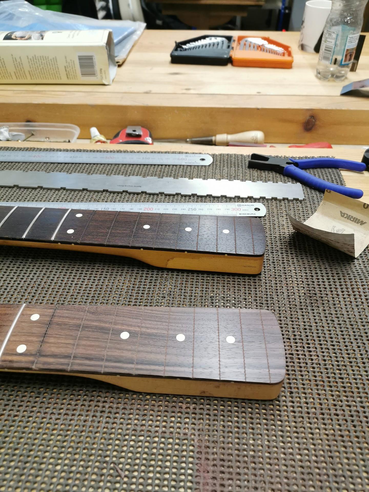Fender Bass Neck Partial Refret guitar repair stroud