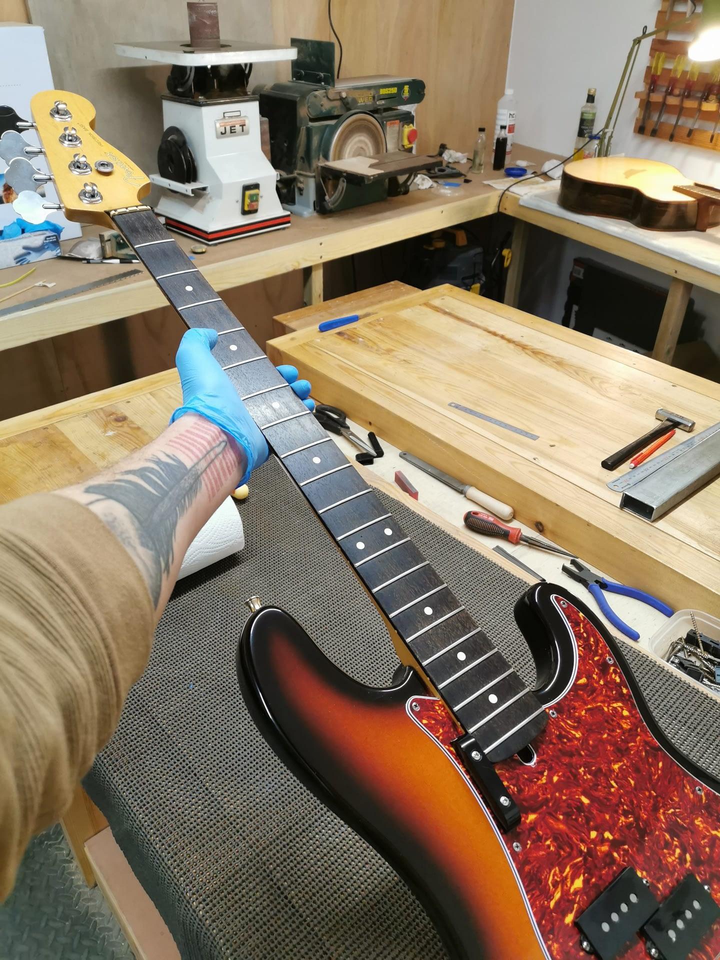 Fender P Bass Guitar repair Stroud