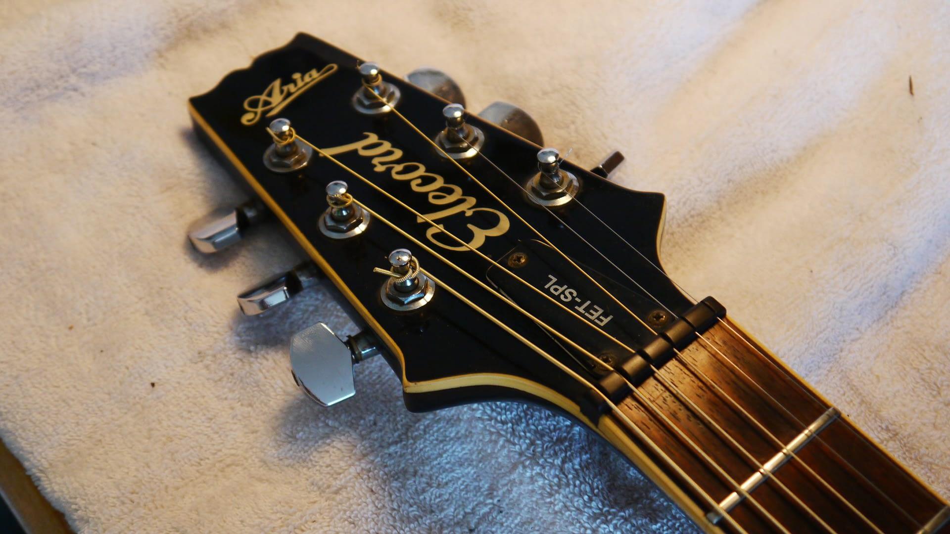New Ebony Nut guitar repair stroud