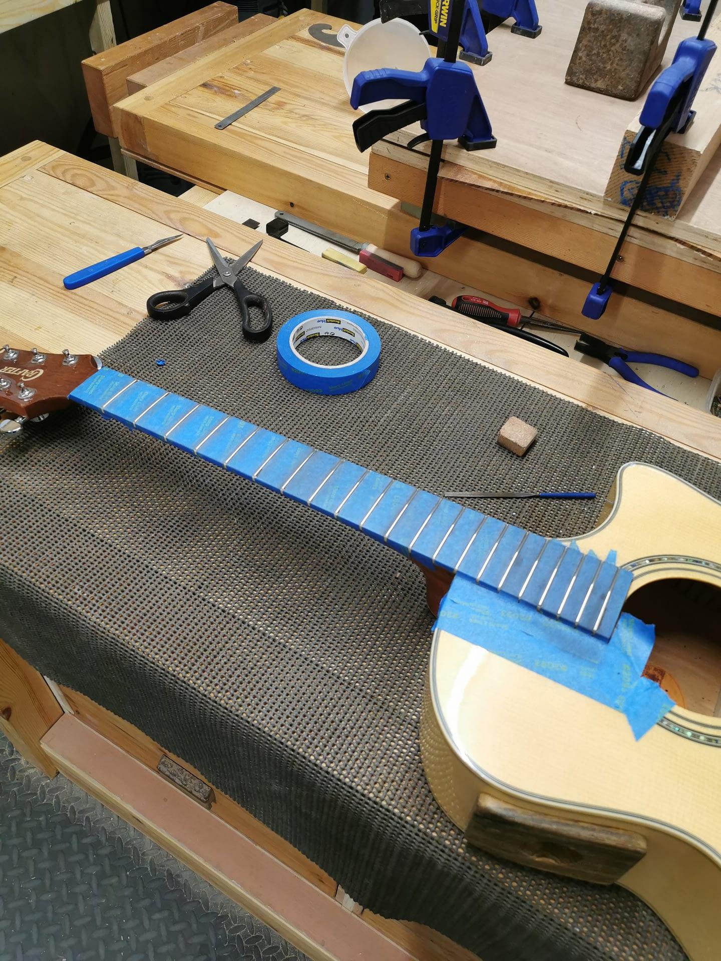 Fret Dress/Leveling guitar repair stroud