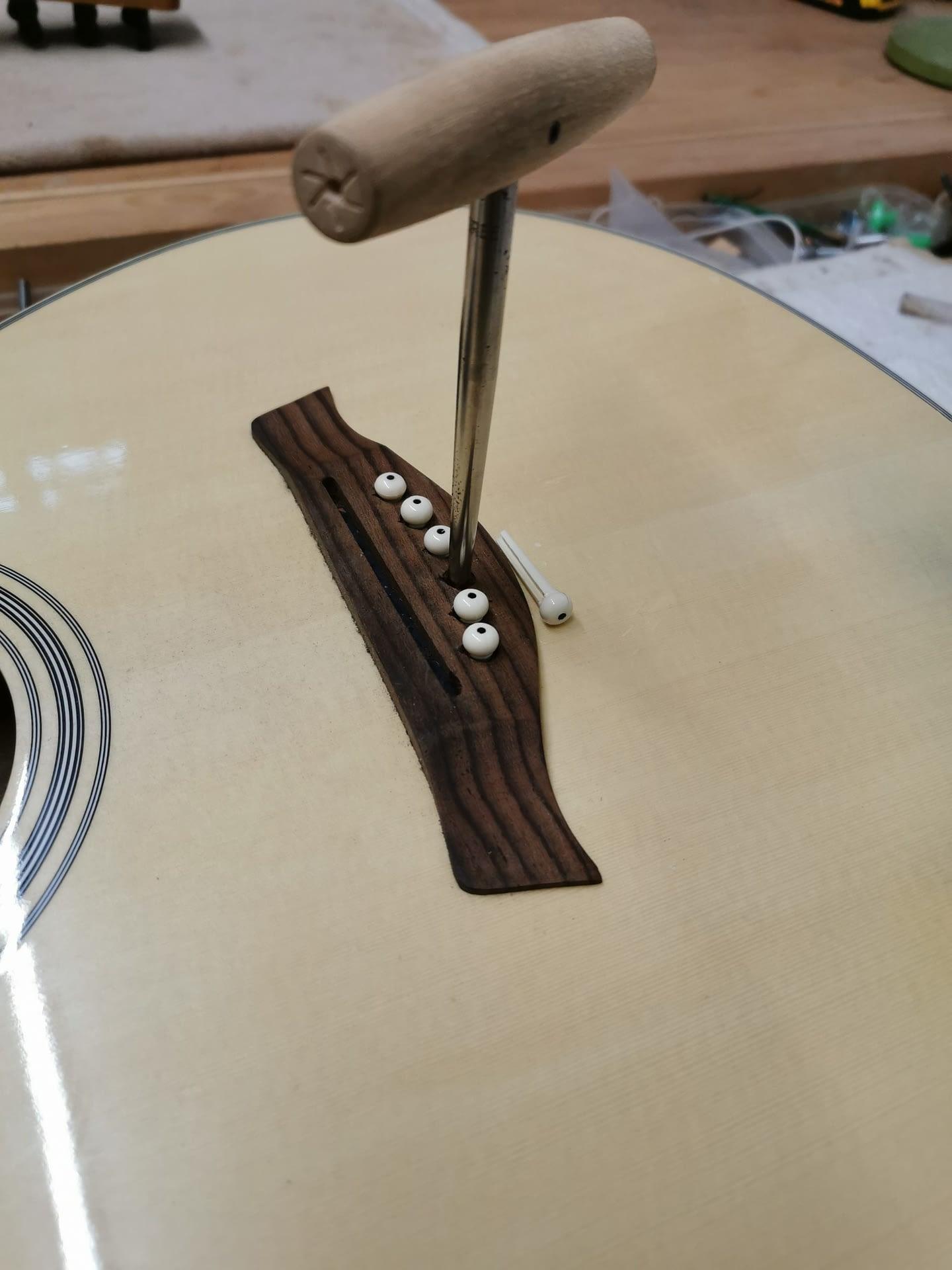 Reaming Bridge Pins Guitar Repair Stroud